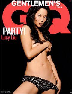 Голая Люси Лью в журнале GQ
