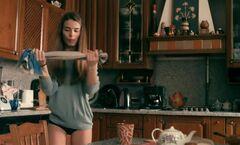 5. Валерия Бурдужа в трусиках в сериале «Второе зрение» (4 серия, 2017)