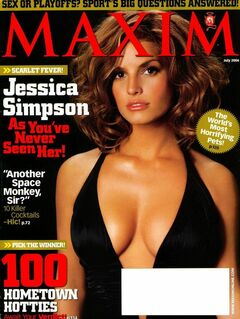 Обнаженная Джессика Симпсон из журнала «Максим»